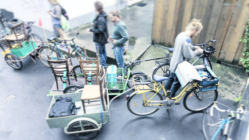 CO2-neutraler Transport für das Pop-Up Café